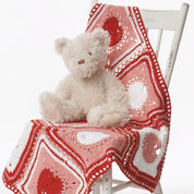 Lily Sugar 'n Cream Heart Dishcloth & Blanket, Blanket