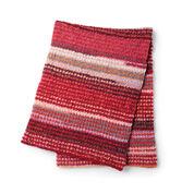 Bernat Striping Houndstooth Crochet Blanket
