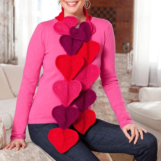 Red Heart Heart Splendor Scarf