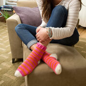 Red Heart Cozy at Home Crochet Socks, S