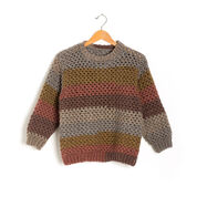Caron Stepping Stripes Crochet Pullover, XS/S