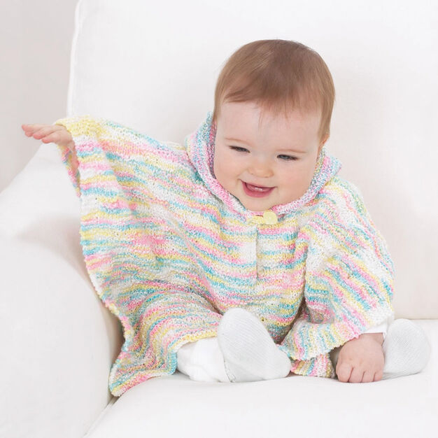 Bernat Sweet Hooded Poncho, 6 mos in color