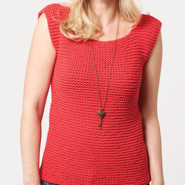 Bernat Garter Stitch Tank, XS/S in color