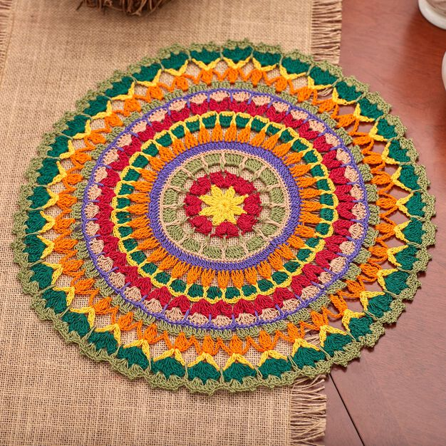 Aunt Lydia's Mandala Doily in color