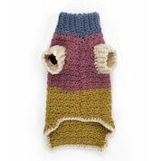 Caron Textured Crochet Dog Coat, S