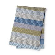Go to Product: Patons Moss Stitch Striped Crochet Blanket in color
