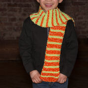 Red Heart So Cool in Stripes Scarf