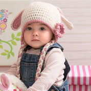 Red Heart Sweet Bunny Hat , S