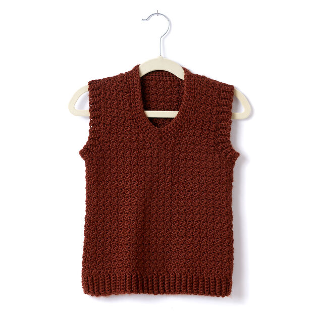Caron Childs Crochet V Neck Vest Size 2 Yarnspirations