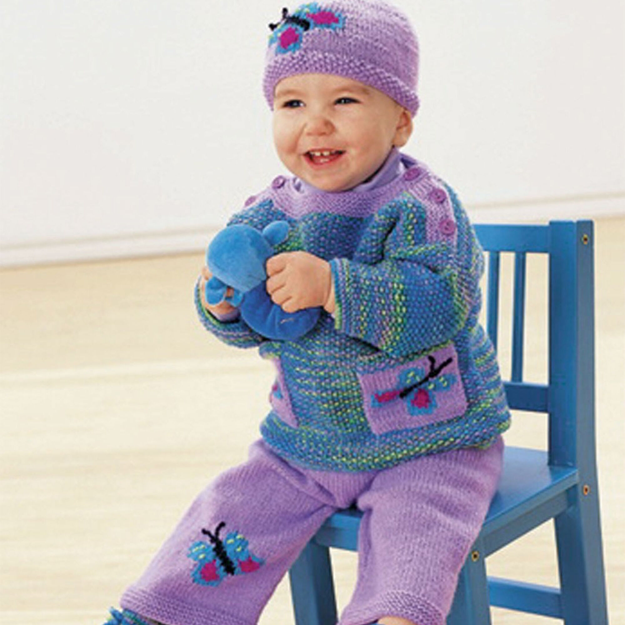 Patons Butterflies are Free Set, Pullover - 6 mos | Yarnspirations