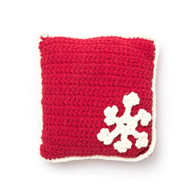 Bernat Snowflake Pillow in color