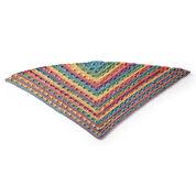 Caron Triangular Crochet Shawl