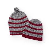 Go to Product: Red Heart Beginner Crochet Striped Hat, Man in color