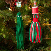 Go to Product: Red Heart Tassels for Your Tree, Emerald Green Glitter Tassel in color