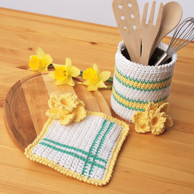 Bernat Springtime Crochet Kitchen Accessories