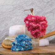 Red Heart Scrubby Bath Poufs
