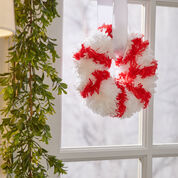 Red Heart Peppermint Wreath