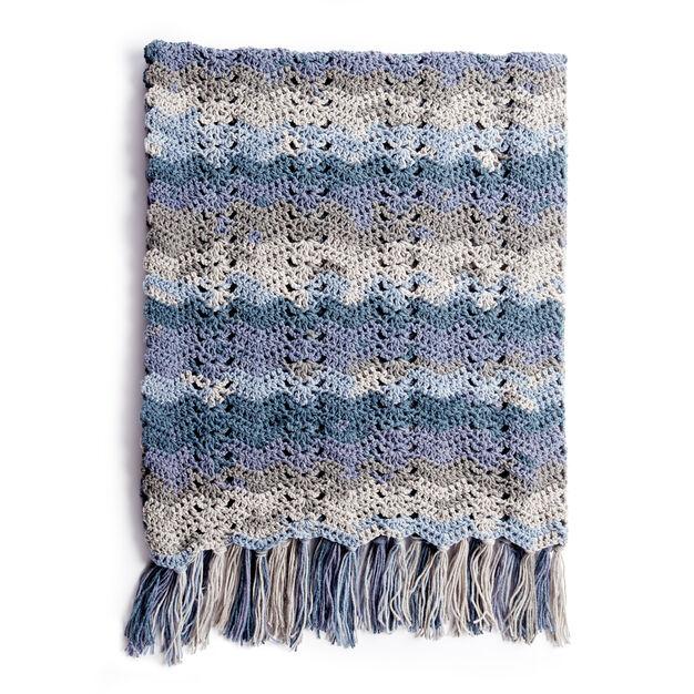 Caron Ocean Waves Crochet Blanket Pattern Yarnspirations