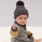 Red Heart Handsome Sweater and Hat, 6 mos
