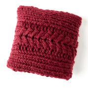 Red Heart Oversized-Cable Pillow