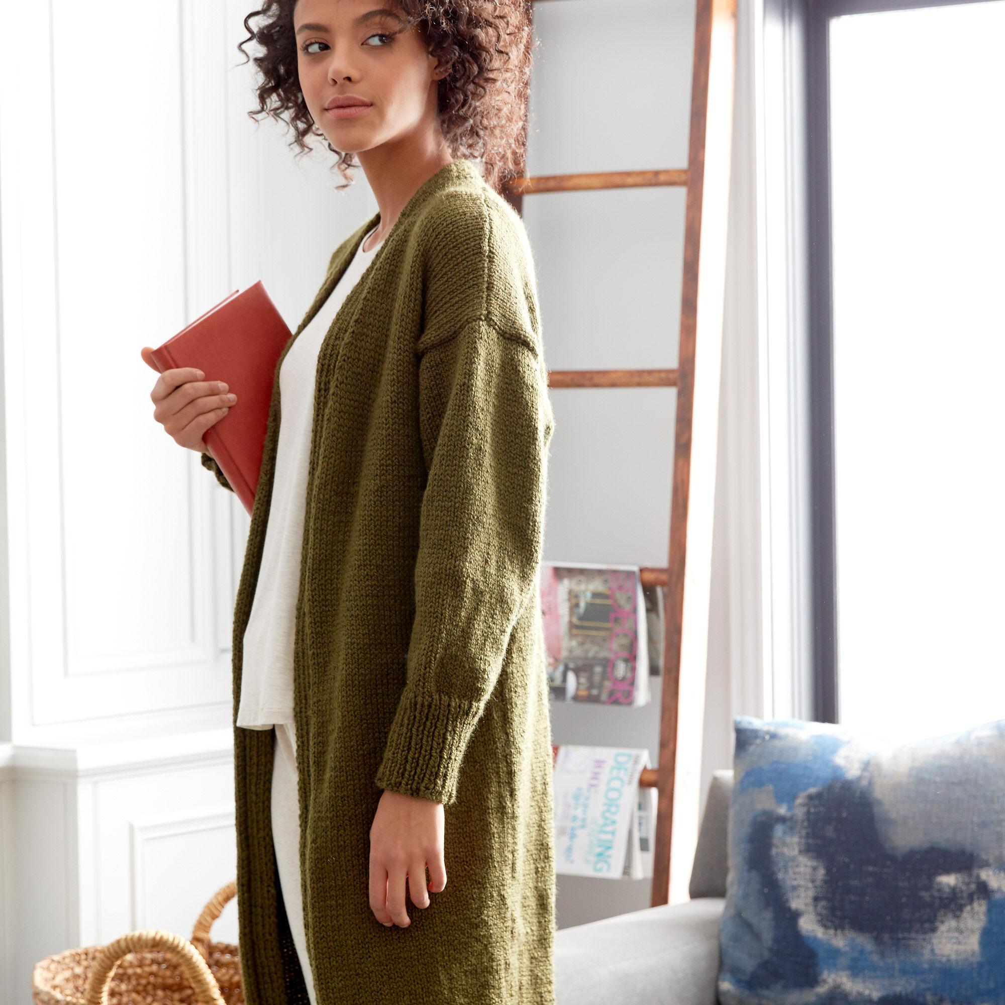 Patons Cozy Knit Coatigan Xss Pattern Yarnspirations