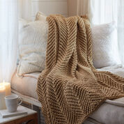 Red Heart Zigging Knit Throw