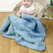 Red Heart Diagonal Baby Blanket