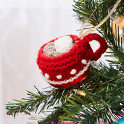 Red Heart Cup of Cocoa Ornament