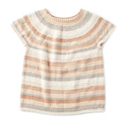 Caron Top Down Knit Pullover, XS/M