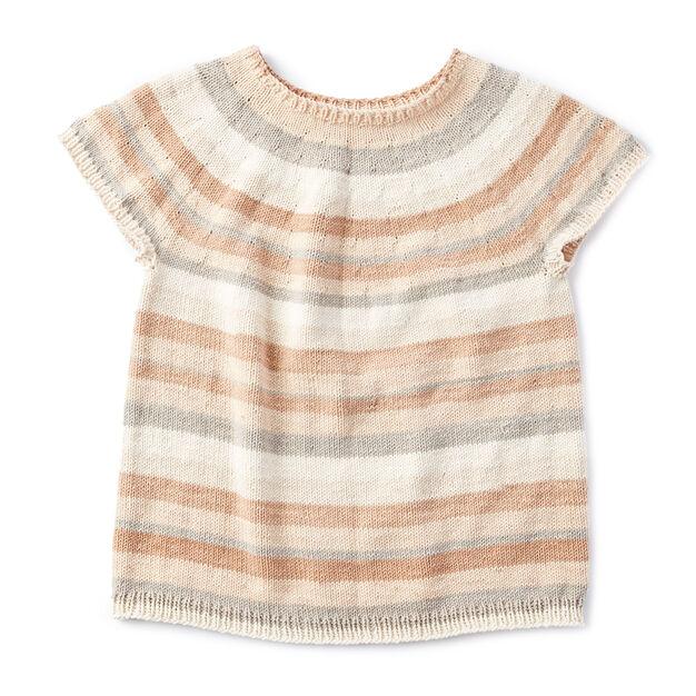 Caron Top Down Knit Pullover Xsm Pattern Yarnspirations