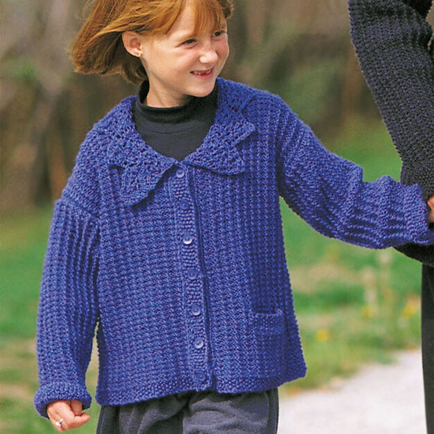 Patons Lace Collared Cardigan, 4 yrs in color