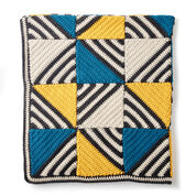 Caron Crochet Tilt-A-Whirl Afghan