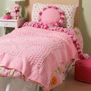 Red Heart Sweet Ruffles Blanket & Pillow