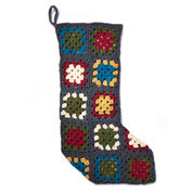 Patons Crochet Granny Square Stocking