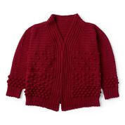 Go to Product: Patons Crochet Winter Berries Cardigan, XS/S in color
