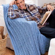 Red Heart Cables and Bobbles Throw