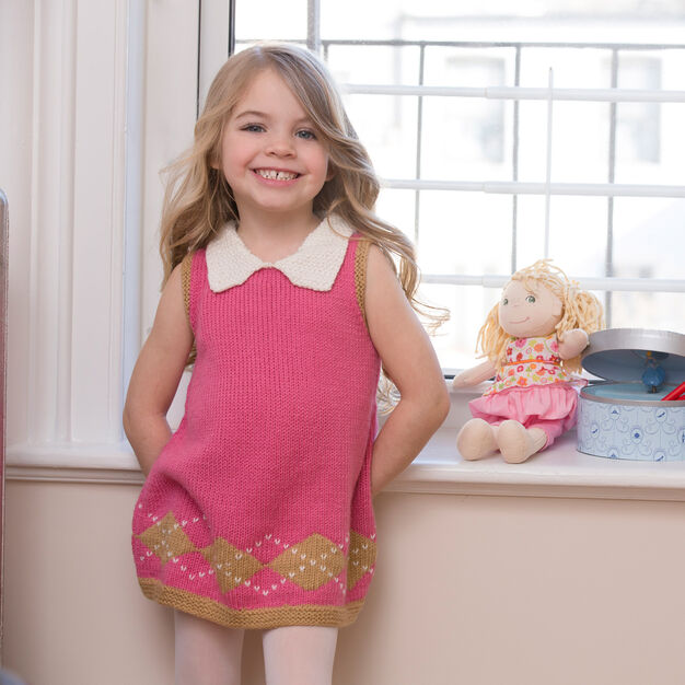 Red Heart Sweet Argyle Dress, 2 yrs
