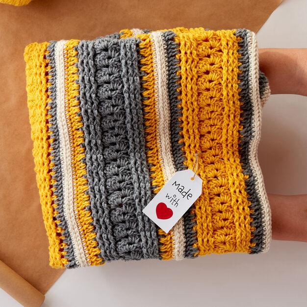 Caron Race to Finish Crochet Lapghan