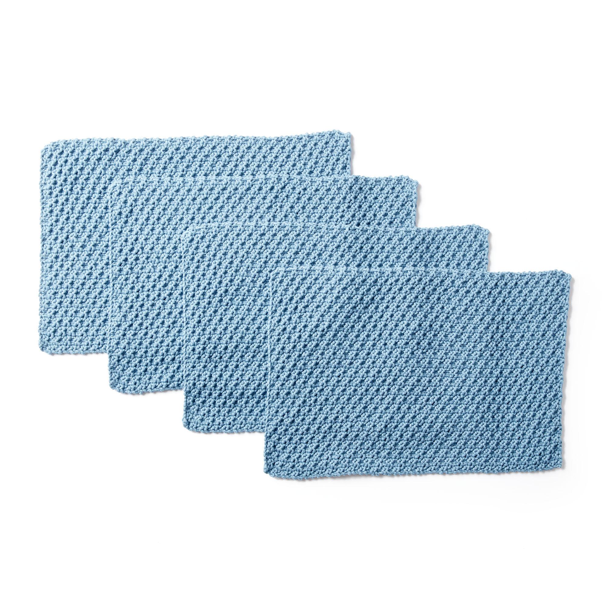 Bernat Easy Life Knit Placemats | Yarnspirations