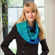Red Heart Color Block Cowl