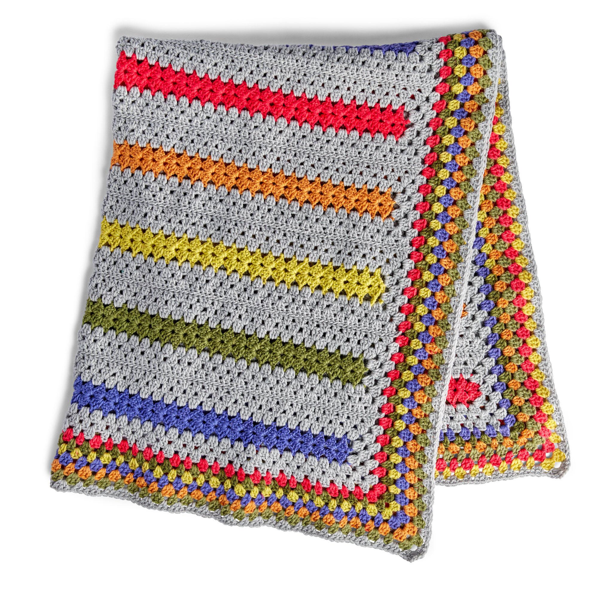 Bernat Pop A Minute Crochet Blanket Pattern Yarnspirations