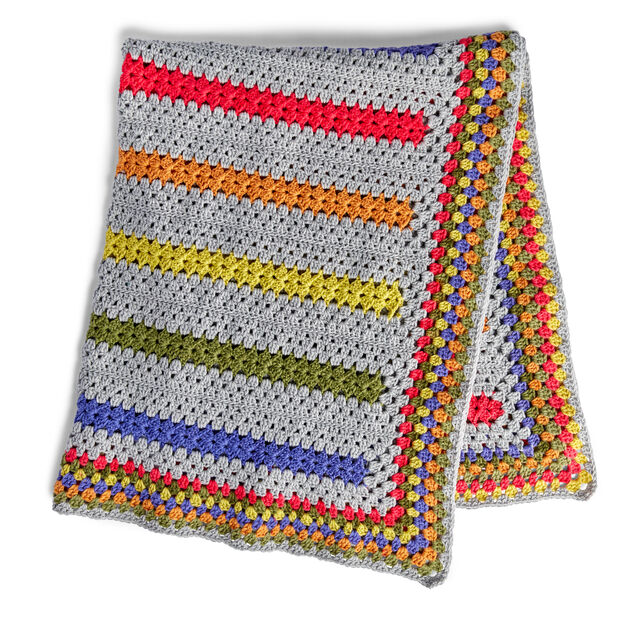 Bernat PopAMinute Crochet Blanket Pattern Yarnspirations Mesmerizing Bernat Pop Yarn Patterns