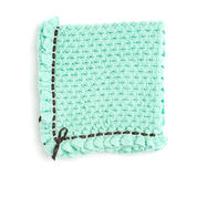 Bernat Crocodile Stitch Baby Blanket