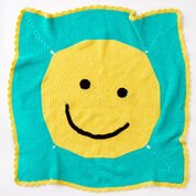 Red Heart Happy Face Toddler Blanket