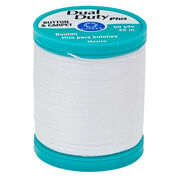 Dual Duty Plus Button & Craft Thread, White