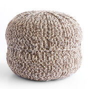 Bernat Wheel Spokes Crochet Pouf