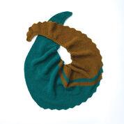 Patons Slash Stripe Knit Shawl