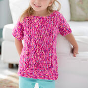 Red Heart Girl's Crochet Cable Sweater, 2 yrs