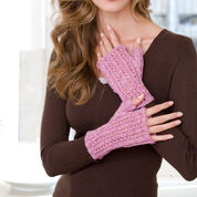 Red Heart Heavenly Lace Knit Wristers