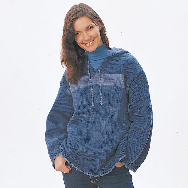 Bernat Hooded Sweatshirt, Solids - Small in color